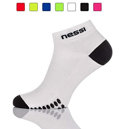 Nessi Chaussettes de Sport modèle RSP pour Homme et Femme, Blanc, 44-46