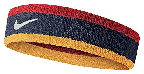 Fascia Tergisudore Tennis NIKE Swoosh Head Band capelli vari colori (Midnight Navy - University Red - University Gold)
