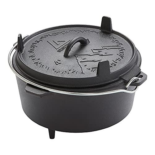 Groenberg Askja Dutch Oven Olla BBQ Horno holandés de hierro fundido con tapa,, 4 L