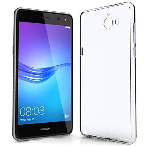 NewTop Cover Compatibile per Huawei Y5 II/Y6 II Compact/Y5 -Y6 2017/Nova Young, Custodia TPU Clear Silicone Trasparente Slim Posteriore (per Y5 2017-Y6 2017-Nova Young)