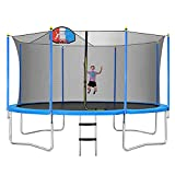 Merax 14FT Trampoline with Basketball Hoop, Safety Enclosure Net,...