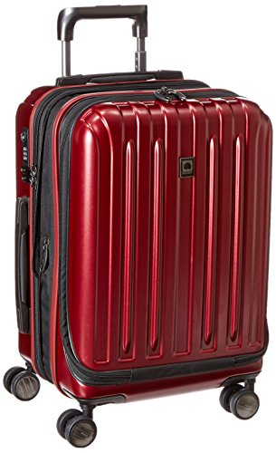 DELSEY Paris Titanium Hardside Expandable Luggage with Spinner Wheels, Black Cherry Red, Carry-On 19 Inch,207180104