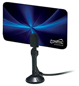 SuperSonic SC-607 HDTV Flat Digital Antenna - Supports 1080p and 720p Linear Polarization 470-860MHz Frequency Range - 8.30 x 4.68 Inches