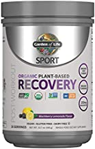 Garden of Life Sport Vegan Post Workout Muscle Recovery Powder for Men & Women - BlackBerry Lemonade 30 Servings, Organic Plant Based Recovery, 100mg Magnesium, Antioxidants, Post Workout Supplements