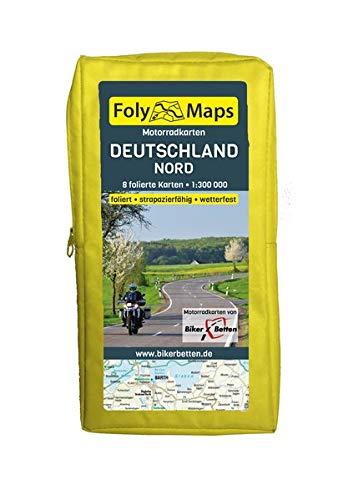 FolyMaps Motorradkarten Deutschland Nord: 1:300 000