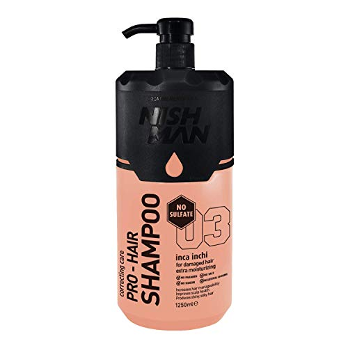 NISHMAN Sulfate Silicon Shampooing sans parabène Inca Inchi 1250 ml