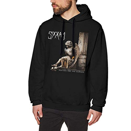 Tengyuntong Herren Kapuzenpullover, Hooded Sweat, Sixx Am Prayers for The Damned Mens Hoodies Sweater Black