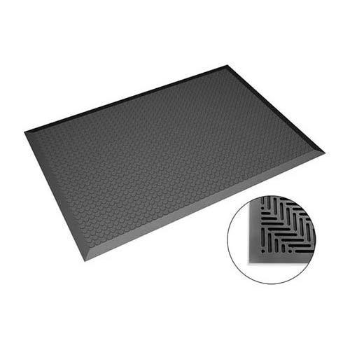 Safeguard WL43050 ESD Bodenmatte, Flache Noppen, 950mm x 1850mm x 14mm, Schwarz