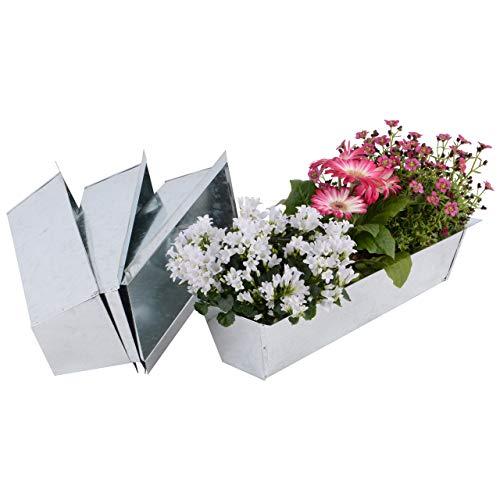 Nature by Kolibri Blumenkasten Set Balkonkasten Einsatz passend für Europaletten für Blumen, Kräuter und Früchte 4 Stück 38cm