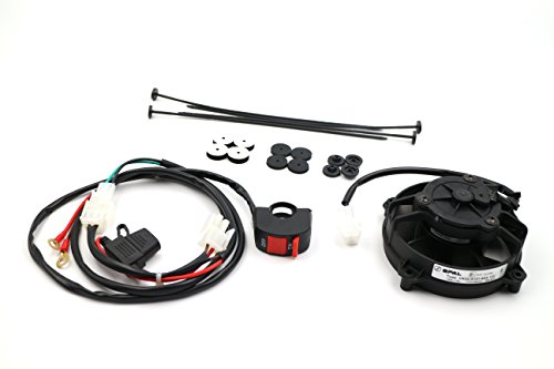 ProRace Ventilador axial, ventilador SPAL original con interruptor para TODOS LOS ENDUROS 2 y 4 tiempos