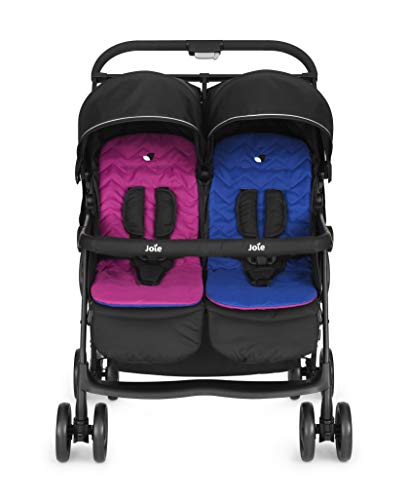 Joie Aire Twin Stroller - Pink/Blue Joie Weight 11.6kg. Max child weight 15kg. Age suitability: from birth to 3 years. 5
