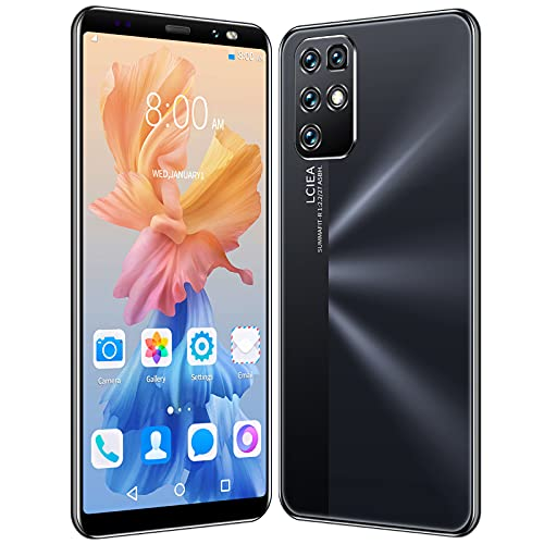 GELEI 5G Doppia SIM Smartphone + da 5,8' Display HD, 4 GB di RAM + 64 GB di Spazio di Archiviazione, Doppia Fotocamera 16MP+8MP, Batteria da 4800 mAh,Nero