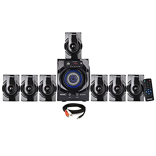 Vemax Venue 7.1 Bluetooth Multimedia Home Theater System with FM, AUX, USB, Bass & Treble Control (Black)
