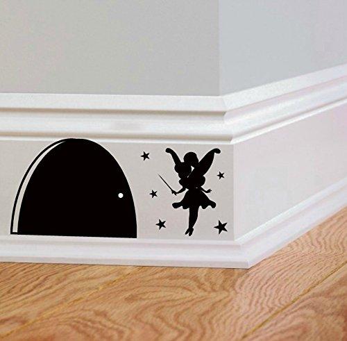 uksellingsuppliers Sticker mural en vinyle pour plinthes Motif trou de souris 14 cm x 6 cm
