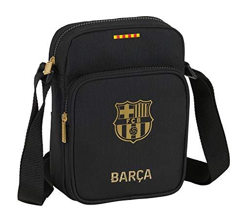 Bandolera con Bolsillo Exterior de F.C. Barcelona 2ª Equip. 20/21 de Safta, Negro, 160x60x220mm