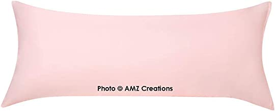 "AMZ Soft Microfiber Body Pillow Cover 21""x 54"" with Zipper Closure (Set of 1) (Pink)"