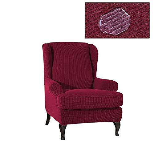 Destinely wasserdichte Stretch Hocker Set, Stuhlbezug, Sofa Schonbezüge, Ohrensessel Sofa, Für Wohnzimmer Schlafzimmer Waschbar Möbelbezug