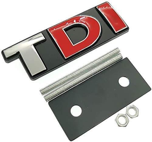 XDHN Tdi Logo Kühlergrill-Aufkleber, Auto-Styling für Golf Passat MK4 MK5 MK6 Skoda Seat, B B