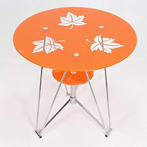 POXZPM - Mesa de comedor de cristal, pequena mesa redonda, negociacion de moda, mesa de recepcion de cafe, pequena mesa de comedor en casa sin sillas