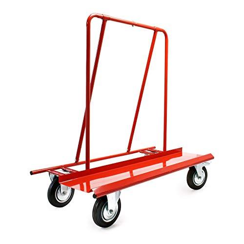 Plattenkarren bis 800kg zum Transport von Trockenbauwänden, Holz- und Gipskartonplatten mit 4 Rädern