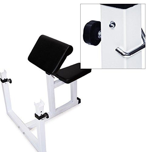 Muorka Commercial Arm Preacher Curl Weight Bench Seated Preacher Isolated Curl Dumbbell Biceps