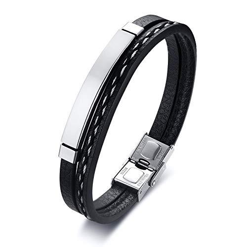 YEESEU Cinturón de Malla de Malla de Acero Inoxidable de 12 mm Banda de Reloj de Reloj Cruzada Charm Christian Pulsera de Hebilla Ajustable (Metal Color : 83210)
