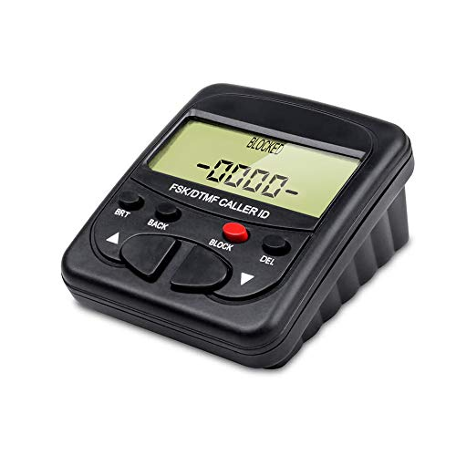 TelPal Landline Call Blocker For Landline Phones with Caller ID Display, Dual Signal FSK/DTMF, 1500 Number Capacity - Block Hidden Numbers, Telemarketer Calls, Nuisance Calls