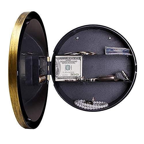 erddcbb Coffre-Fort numérique Horloge Murale Coffre-Fort Horloge de Bureau à Domicile Style coffres-forts boîte créative Vintage caché Secret boîte de Rangement pour Argent...