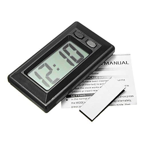 Banbie Ultradünne LCD-Digitalanzeige-Auto-Armaturenbrett-Uhr mit Kalender-Anzeige Mini Portable Automobile Accessories