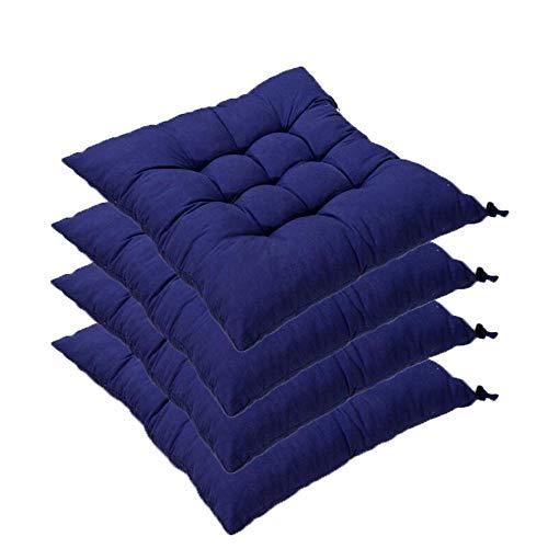 AGDLLYD Set da 4 Cuscino Sedia,Cuscini per Giardino, per Dentro e/o Fuori,40x40 cm,Disponibile in Tanti Colori Diversi,Cuscini per sedie da Giardino,C