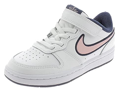 Nike Court Borough Low 2 SE, Scarpe da Basket, Bianco Rosa Blu, 35 EU