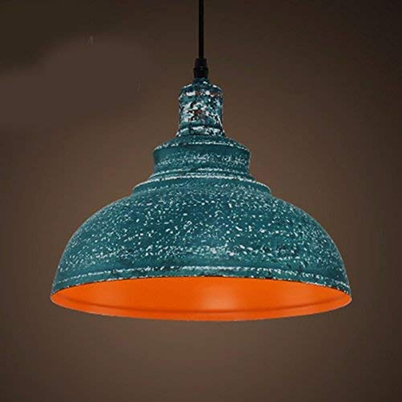 ●  Suspension Lustre Restaurant Lumière Ventilateurs Industriels Rétro Simple Tête De Fer Art Loft Vert 30  23Cm ●