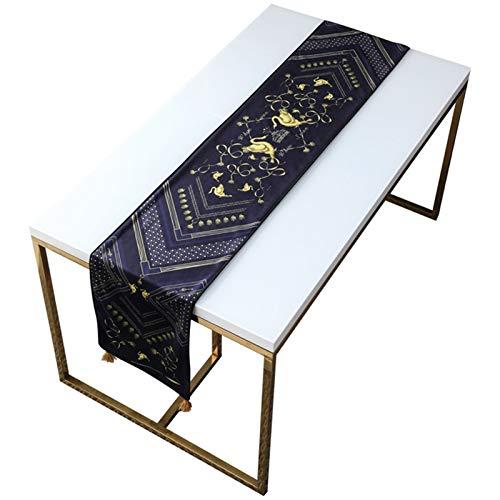 YYQIANG Corredor de mesa con espesas de doble té largo, tela, bandera de cama tela de tela de tela de tela de tela de tela europea, decoración del hogar de la fiesta de fiesta de vacaciones, es la mej