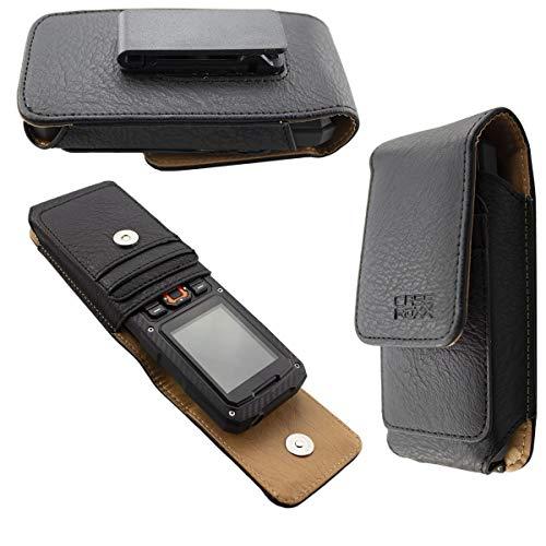caseroxx Handy Tasche Outdoor Tasche für Cyrus cm 8, mit drehbarem Gürtelclip in schwarz