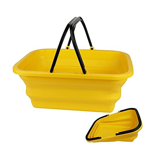 折りたたみバケツ 車載バケツ 釣りバケツ、10L 四角, 掃除 洗濯 収納 薄く畳めるバケツML-0415
