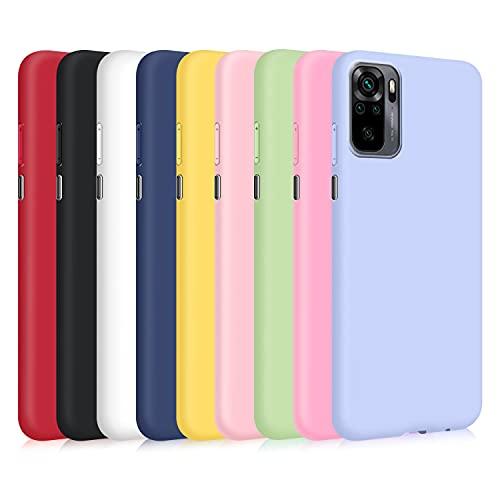 9X Cover per Xiaomi Redmi Note 10 4G/ Note 10s, Custodia Morbido Silicone Ultra-Sottile TPU Tinta Unita Anti-Graffio Paraurti Protettiva Flessibile Gomma Case - 9 Colori