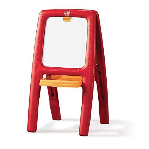 Step2 Easel For Two Tableau d'écriture Enfant | Tableau magnétique et pliable pour Enfants avec un kit d'accessoires de 77 pièces