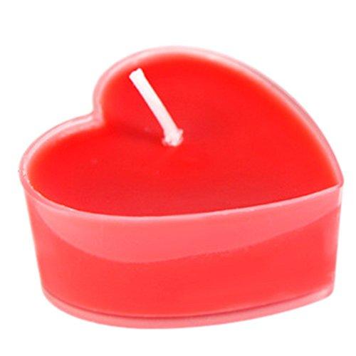 Milopon 9X Teelicht Duft Geburtstagskerzen Hochzeit Aromatherapie Kerzen Herz Deko Romantische Schwimmkerzen, ohne Rauch, romantisch, Valentinstag, zur Dekoration (Rot)