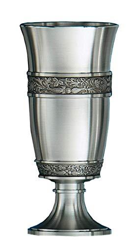 Schwerer Zinnpokal Höhe: 18cm mit Fläche für wählbare Diamantgravur