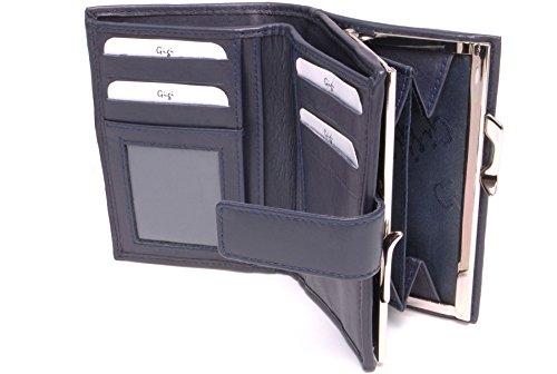 Gigi - Dames Luxe Portemonnee met Geschenk Doos - kwaliteit Echt Leer - Portemonnee/muntgeld portemonnee met Gesp - OTHELLO 4244