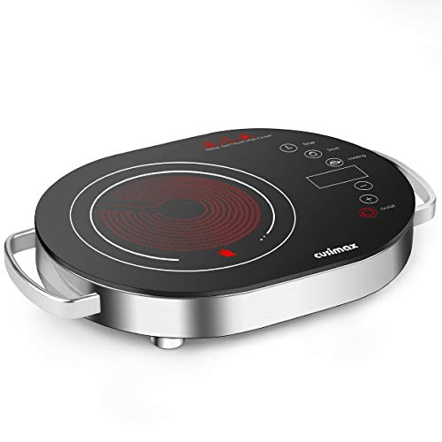 Cusimax Hot Plate Electric Stove, 1500W LED Infrared Single Burner Portable, Heat-up In Seconds, 7.9...