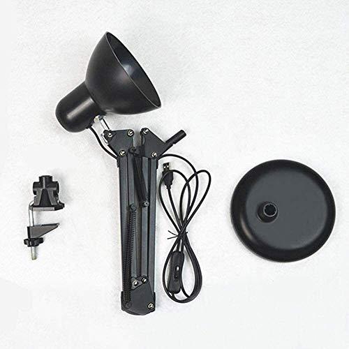 QIURUIXIANG- Lámpara LED plegable, ojo ilimitado con un puerto USB Regulador de la oficina, tres tipos de modos de iluminación, botones de control