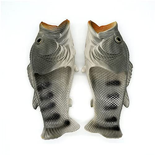 Chanclas de pescado, las zapatillas de pescado originales regalo divertido sandalias unisex sandalias de bajo porta piscina playa ducha zapatos hombres, mujeres niños ( Color : Gray , Size : EU44/45 )