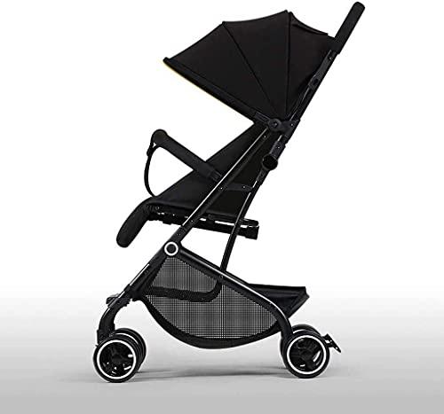 Cochecito de bebé liviano portátil, cochecito de conveniencia, silla de paraguas liviana con diseño de asiento reversible para orientación trasera y hacia adelante, pliegue compacto, ajustable sobre