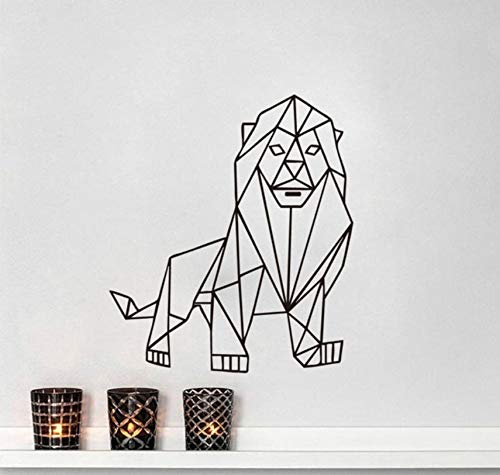 Hwhz 50.6 X 58 Cm Lion Outline Geometrico Wall Sticker Home...
