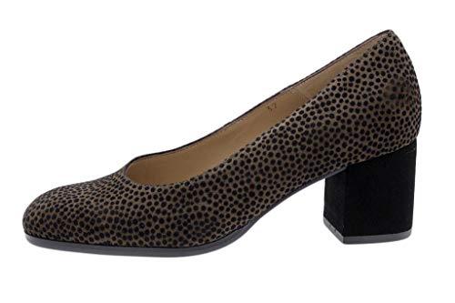 Zapato Cómodo Mujer Salón Lince Caoba