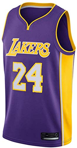 June Bart Canotta NBA,Donne Jersey Uomo - NBA Lakers 24# Kobe Bryant Maglie Traspirante Ricamati Pallacanestro Swingman Jersey