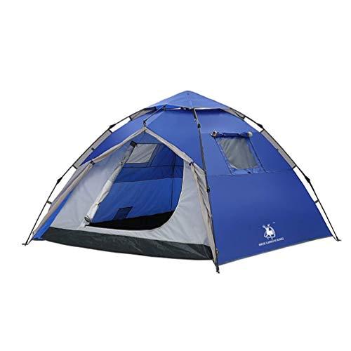 IREANJ Tienda de campaña para exteriores de 3 a 4 personas, doble impermeable, para camping, esqueleto, automático, tela Oxford para playa, al aire libre, viajes, senderismo, camping, tienda de pesca