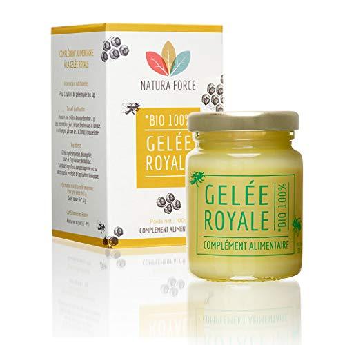 NATURA FORCE - Gelée Royale - Complément Alimentaire Naturel & Bio - 100% Pure Gelée Royale - Energie, immunité et vitalité - Pot de 100 g de pure gelée royale