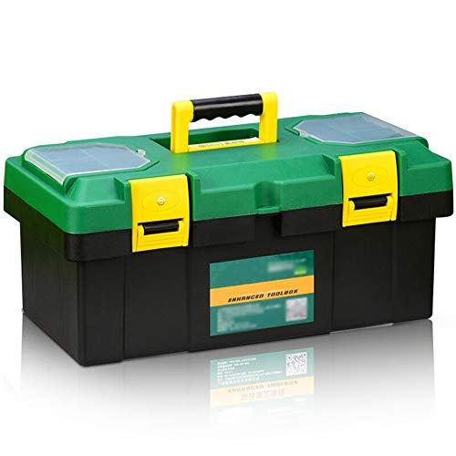 YIN YIN - Caja de almacenamiento de herramientas: kit de reparación, maleta portátil for auto, caja de almacenamiento de herramientas for trabajadores de múltiples funciones for fortalecer la resisten